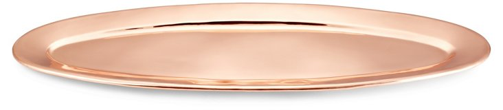 Copper-Plated Oval Serving Tray