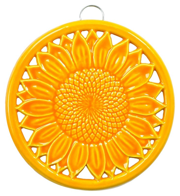 Sunflower Trivet, Tangerine
