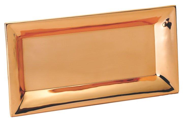 Heavy Gauge Rectangular Tray, Copper