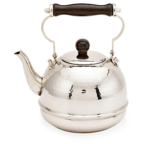 Hammered Teakettle w/ Wood Handle