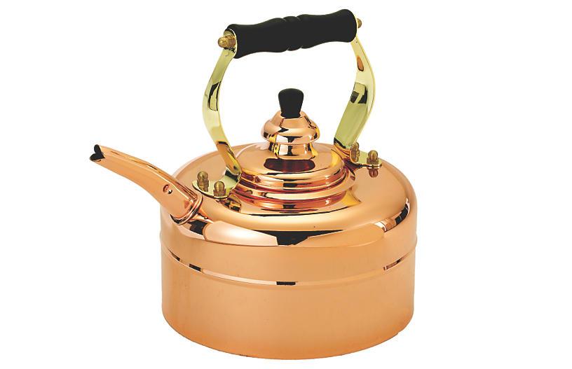 Copper Windsor Whistling Teakettle