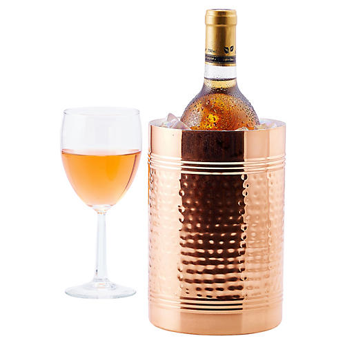 Hammered Wine & Champagne Copper Chiller