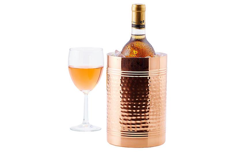 Hammered Wine & Champagne Copper Chiller