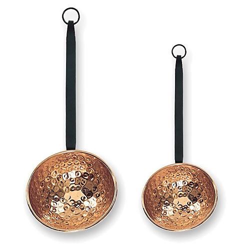 S/2 Oversize Copper Ladles