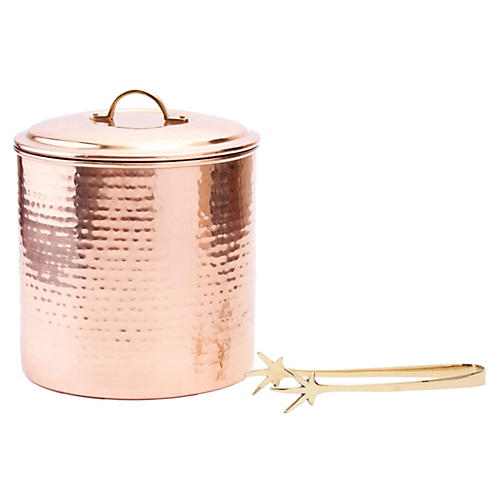 Decor Ice Bucket w/Liner & Tongs, 3 Qt.