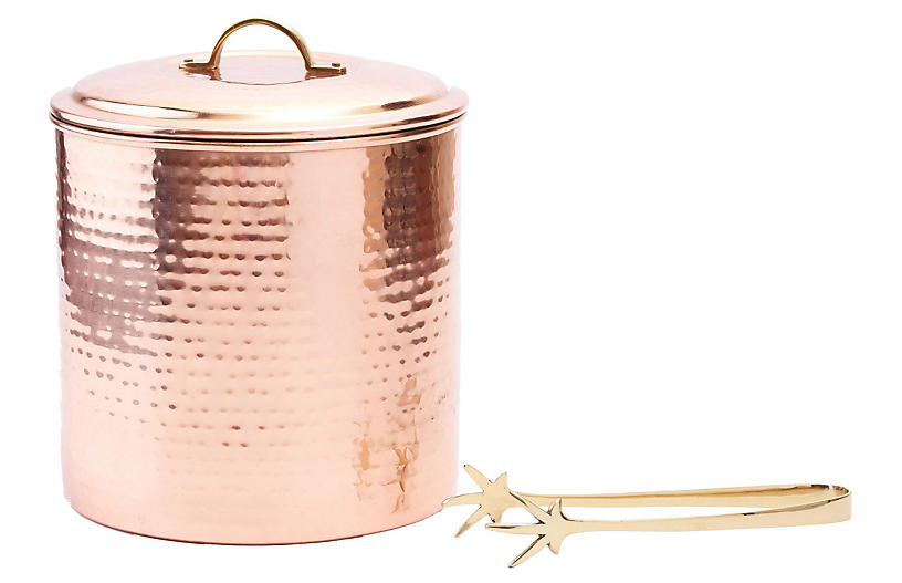 Decor Ice Bucket w/Liner & Tongs - 3 Qt.