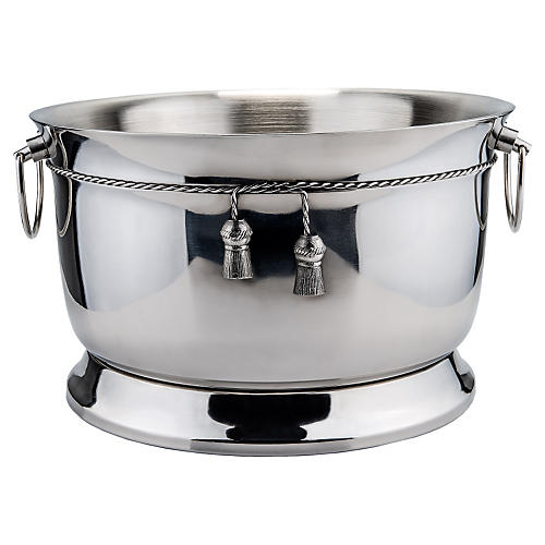 Stainless Double-Walled Party Tub, Silver