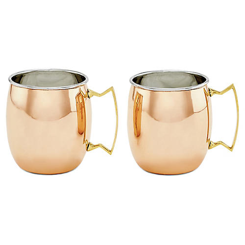 S/2 Hansley Moscow Mule Mugs, Copper