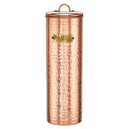 Polk Hammered Pasta Cannister, Copper