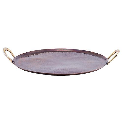 Feliz Serving Tray, Antiqued Copper