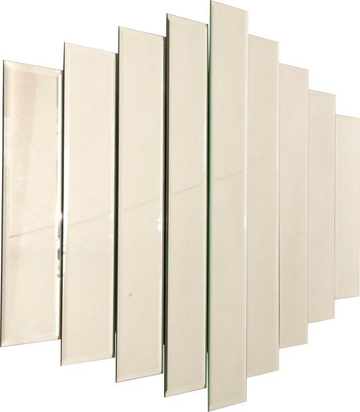 Large 1980s Mirror