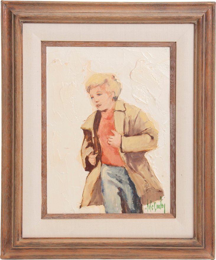 Oil Painting, Blond Boy