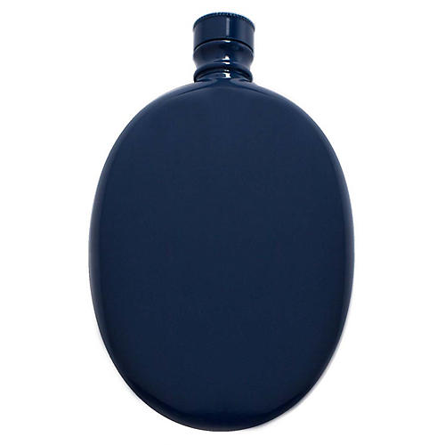 Smith Oval Flask, Navy