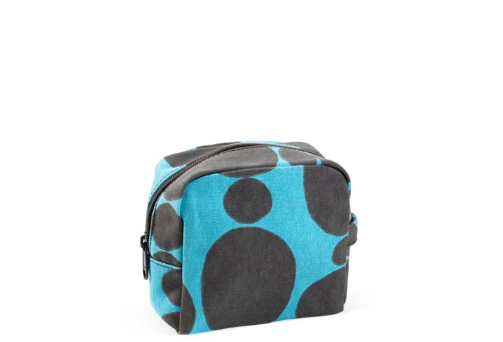 Small Cosmetic Bag, Aqua Totem