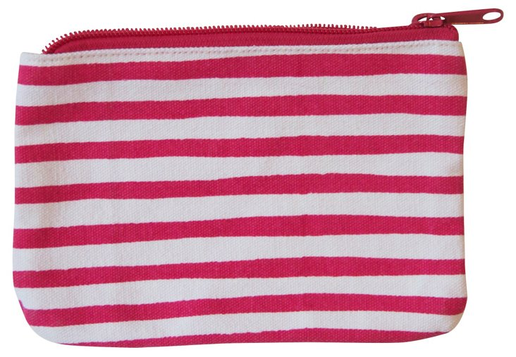 S/2 Coin Purses, Pink Stripe