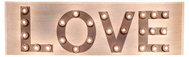 "Marquee Light-Up ""Love"" Sign"