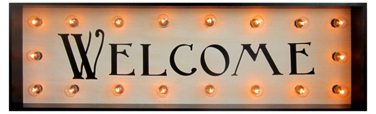 "Marquee Light-Up ""Welcome"" Sign"