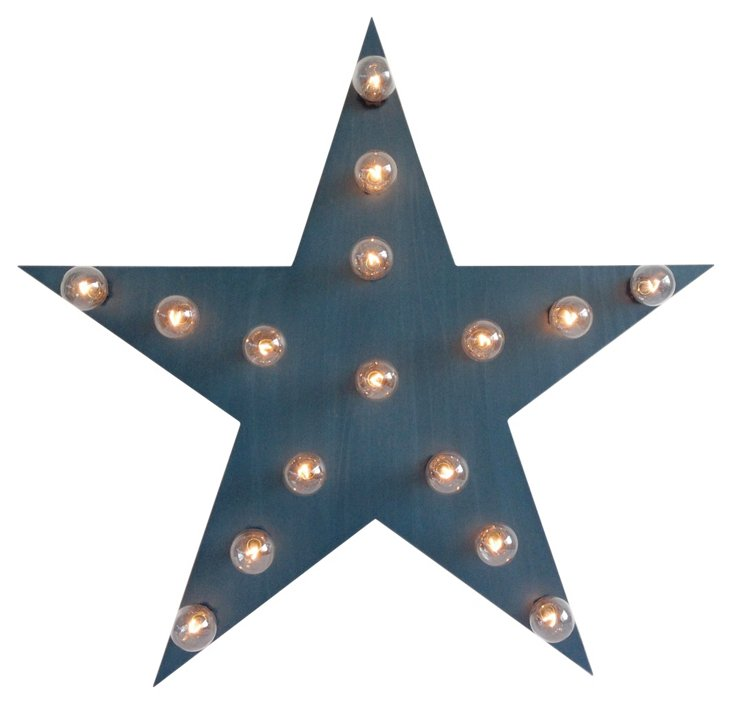 Marquee Light-Up Star, Blue