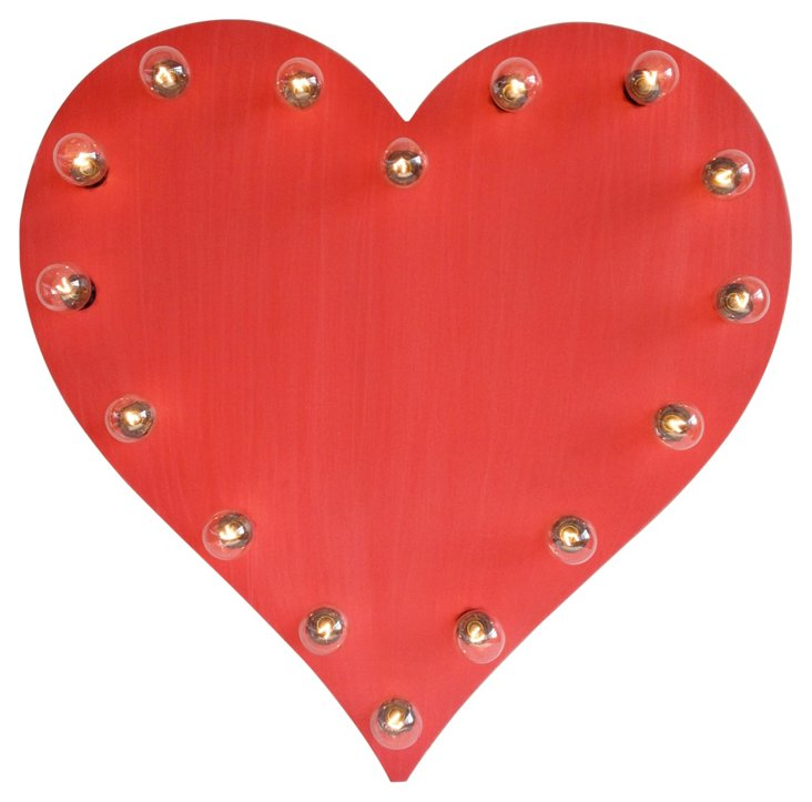 Marquee Light-Up Heart, Red