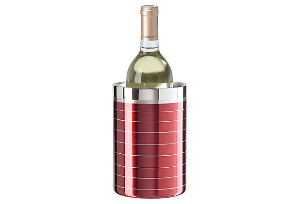 S/S Double Wall Wine Cooler  Red