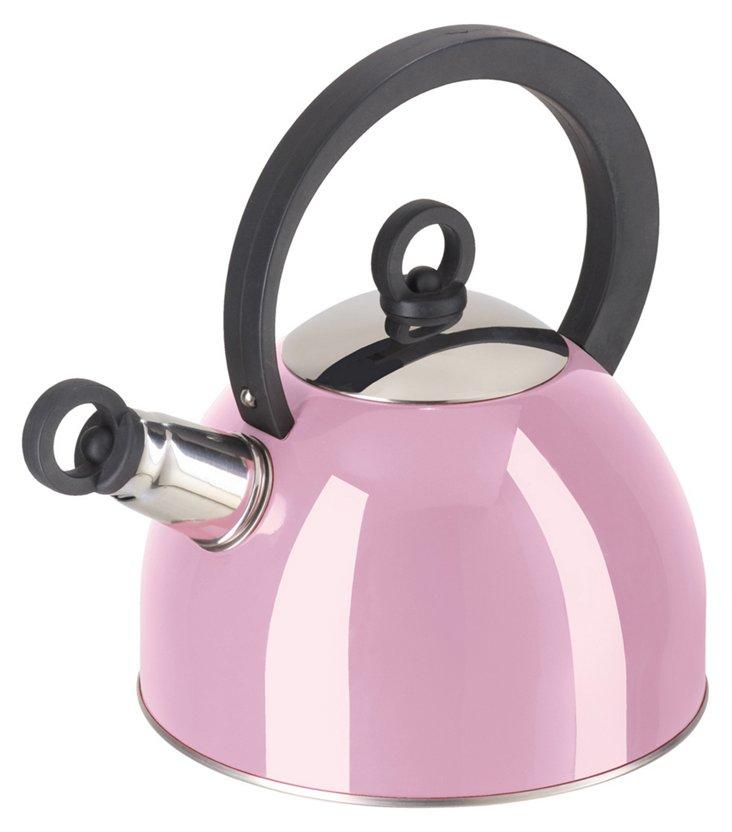 1.9-Liter Whistling Tea Kettle, Pink