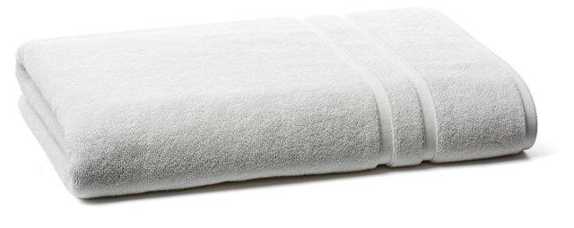 Solid Dobby Bath Sheet, Light Gray