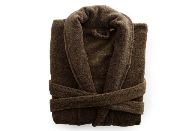 Women's Organic Shawl Collar Robe, Khaki