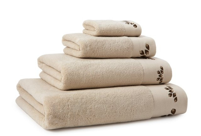 4-Pc Organic Oya Towel Set, Stone