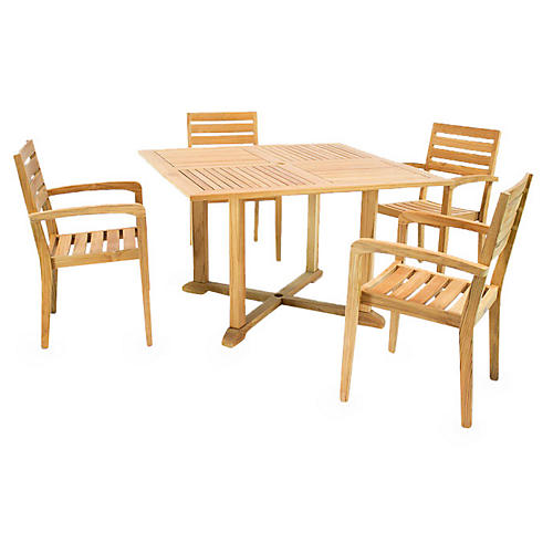 Venice 5-Pc Teak Dining Set