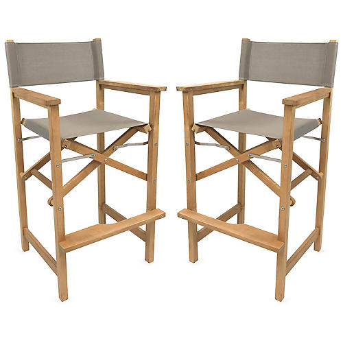 Captain Armchairs, Natural/Taupe