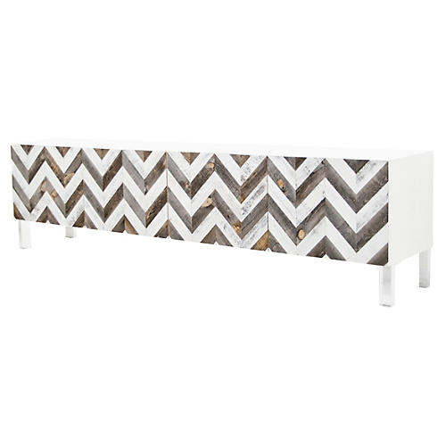 "Racer 96"" Sideboard, White"