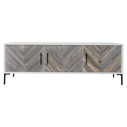 Ashwell Sideboard, White/Gray