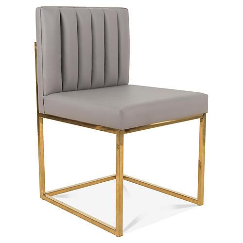 Saul Side Chair, Gray