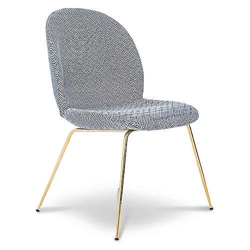 Hank Side Chair, Navy Linen