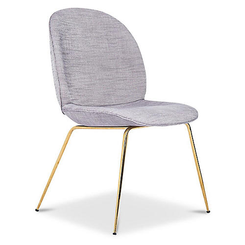 Hank Side Chair, Gray Linen