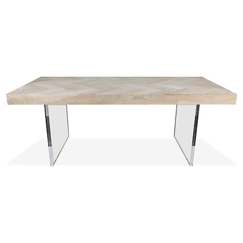 Hank Dining Table, Bleached Walnut