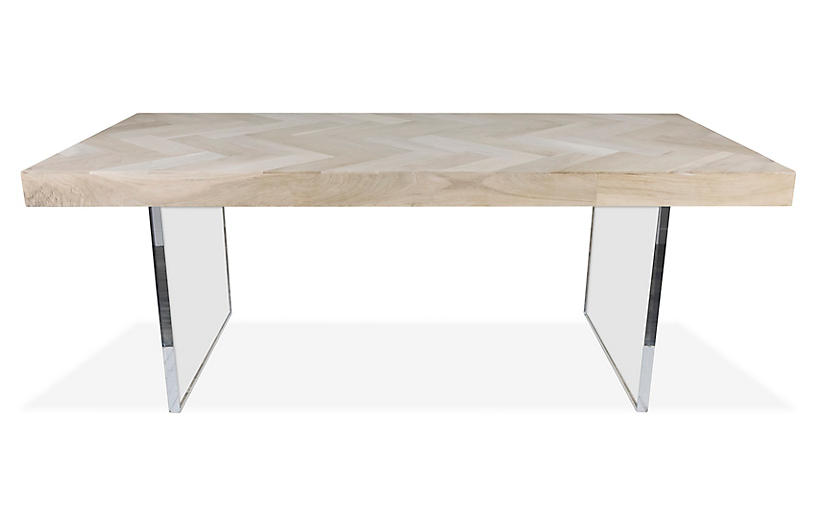 Hank Dining Table Bleached Walnut Dining Tables Dining Tables - Bleached wood dining table