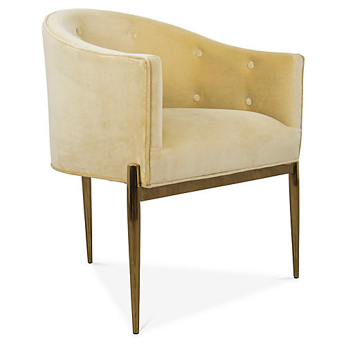 Gustavo Armchair, Yellow Velvet
