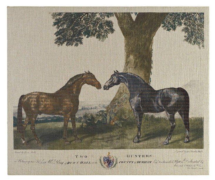 Bay and Chestnut Artwork, 49 x 31