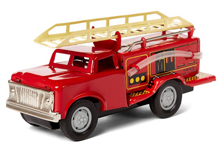 Collectible Tin Toy Fire Truck