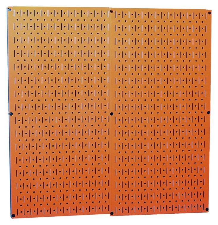 S/2 Metal Pegboards, Orange
