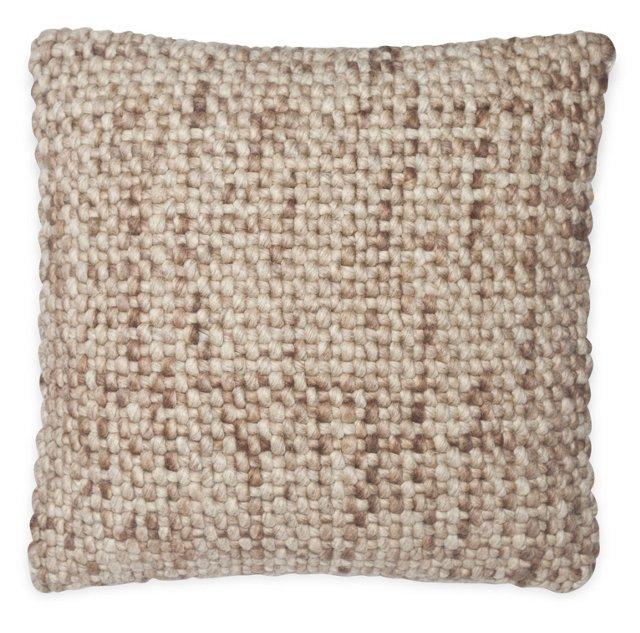 Basketweave 20x20 Pillow, Natural