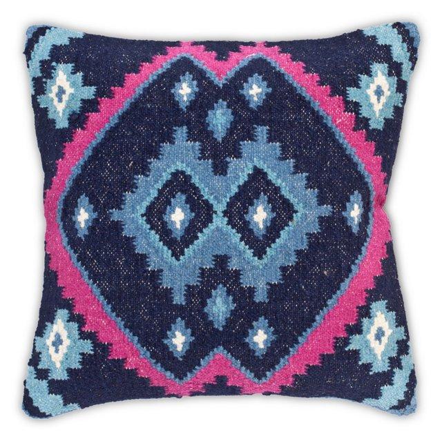 Kilim 20x20 Cotton-Blended Pillow, Multi