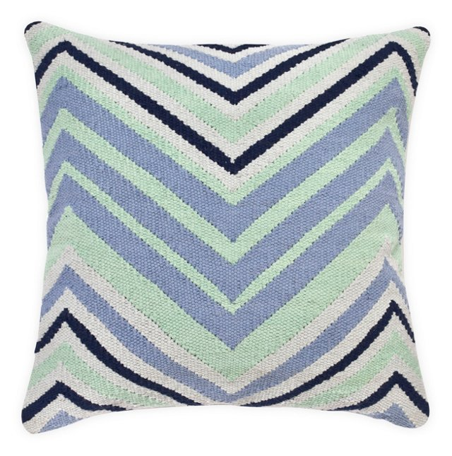 Ace 18x18 Cotton Pillow, Multi