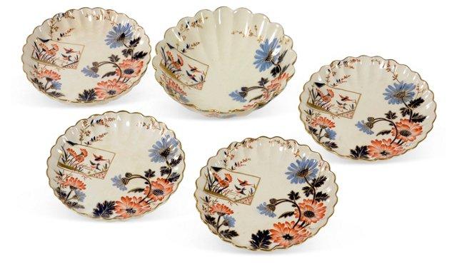 1880s Imari Bowl & 4 Plates