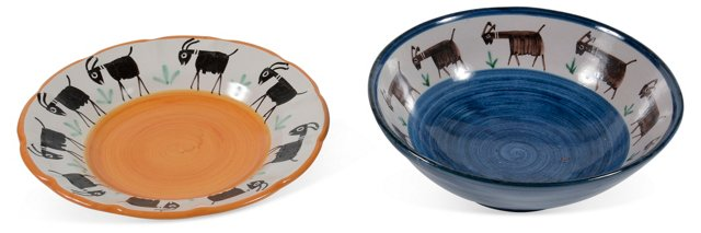 Italian Bowl & Plate