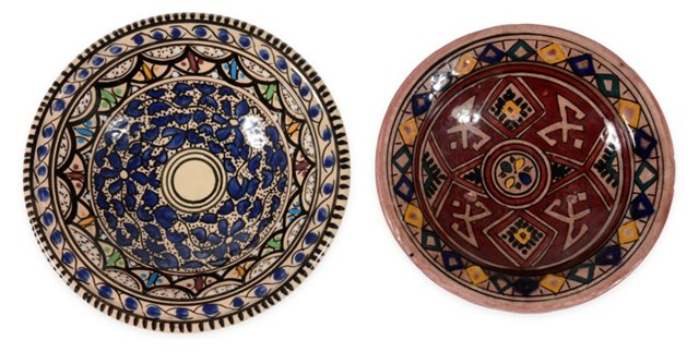 1960s Moroccan Dishes, Set of 2