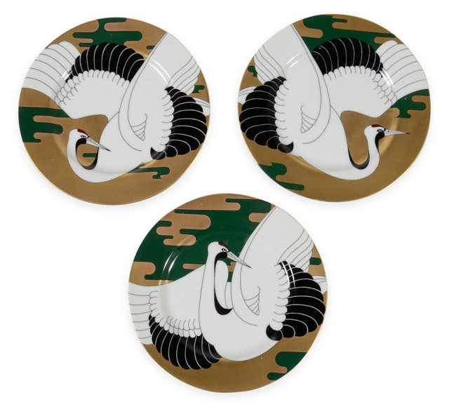 Japanese Plates, Set of 3