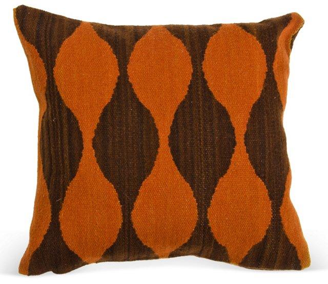 Andian Loom Pillow, Burnt Orange