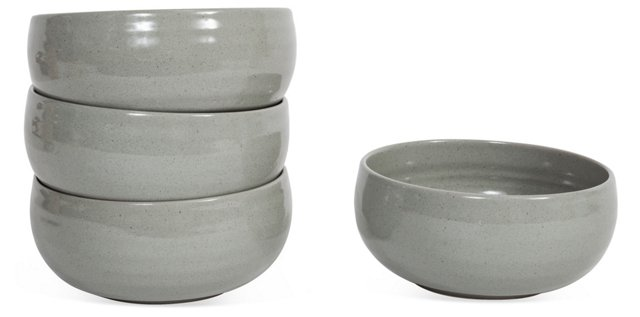 S/4 Ceramic Bowls, Gray
